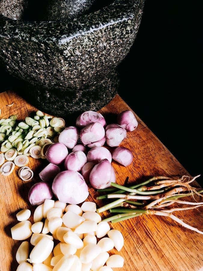 Hauptbestandteil der thailändischen Curry-Paste stockfoto