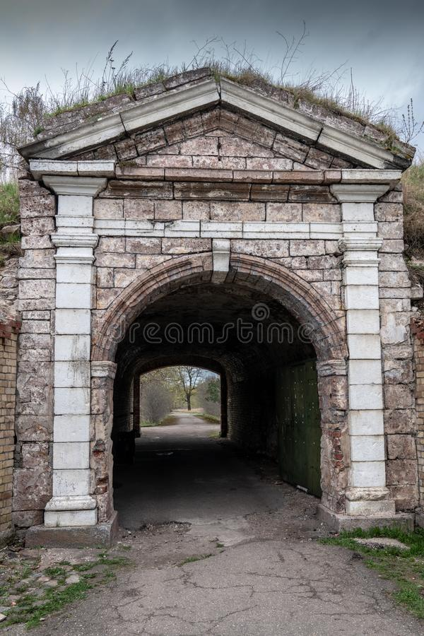 Haupteingang in Daugavgrivas-Festung lizenzfreies stockfoto