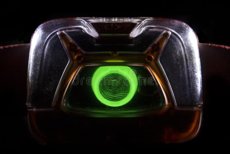 Hauptfackel in der Hintergrundbeleuchtung, Nahaufnahme auf einem schwarzen Hintergrund stockfoto