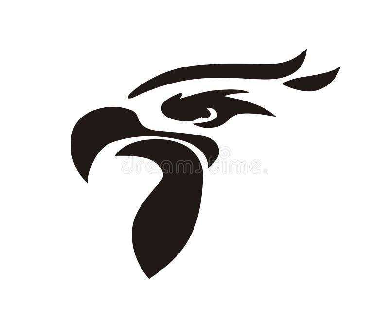 Hauptfalkevogel vektor abbildung