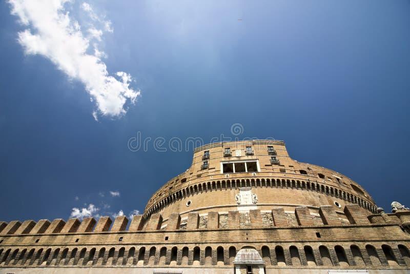 Hauptfassade von Castel Sant 'Angelo lizenzfreies stockbild
