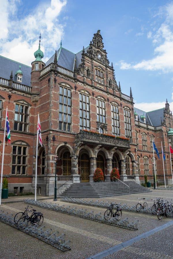 Hauptgebäude der Groningen-Universität stockbild