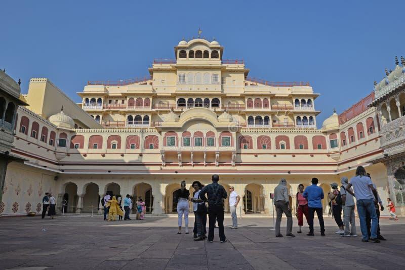 Hauptgebäude, Stadt-Palast, Jaipur, Rajasthan stockbild