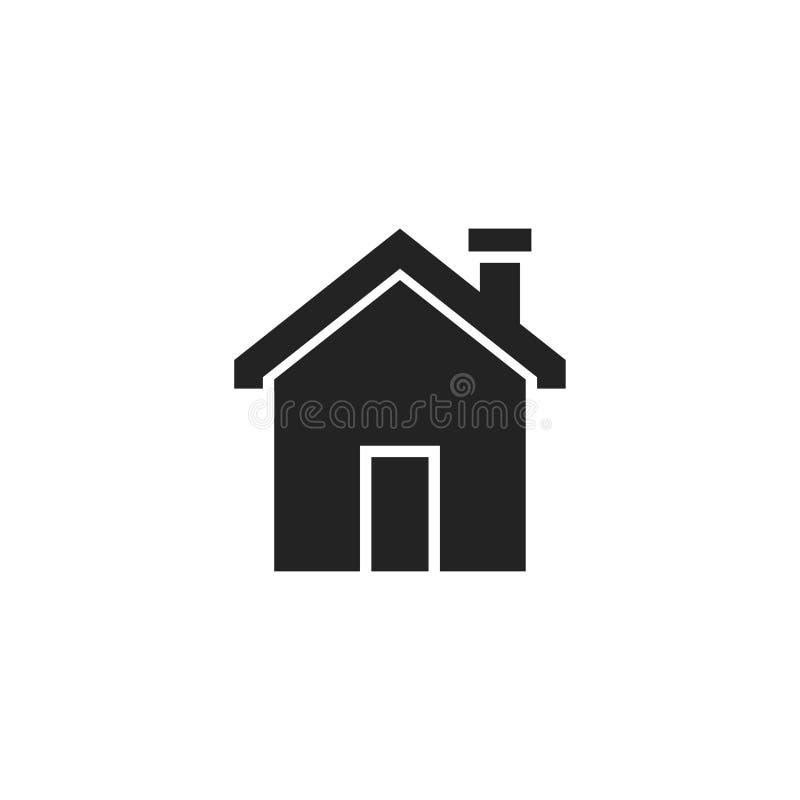 Hauptglyph-Vektor-Ikone, Symbol oder Logo vektor abbildung