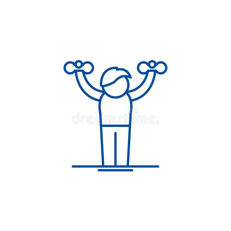 Hauptgymnastiklinie Ikonenkonzept Flaches Vektorsymbol der Hauptgymnastik, Zeichen, Entwurfsillustration lizenzfreie abbildung
