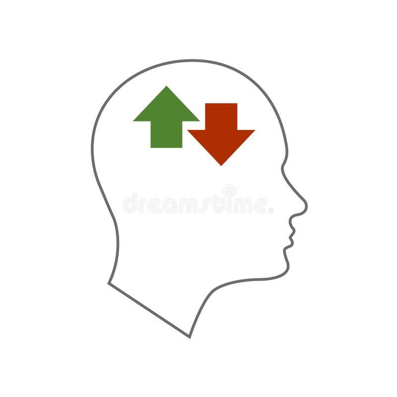 Hauptikone für bipolare Störung vektor abbildung