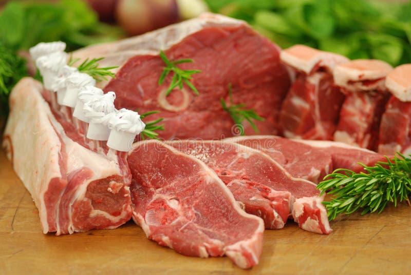 Hauptlammfleischstücke lizenzfreie stockfotos
