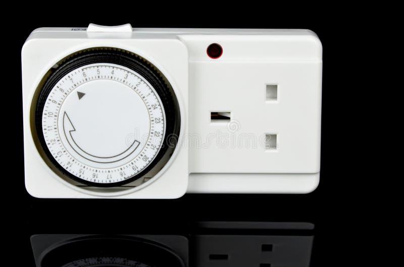 Hauptleitungs-Timer-Adapter BRITISCHER Versionssockel stockfoto