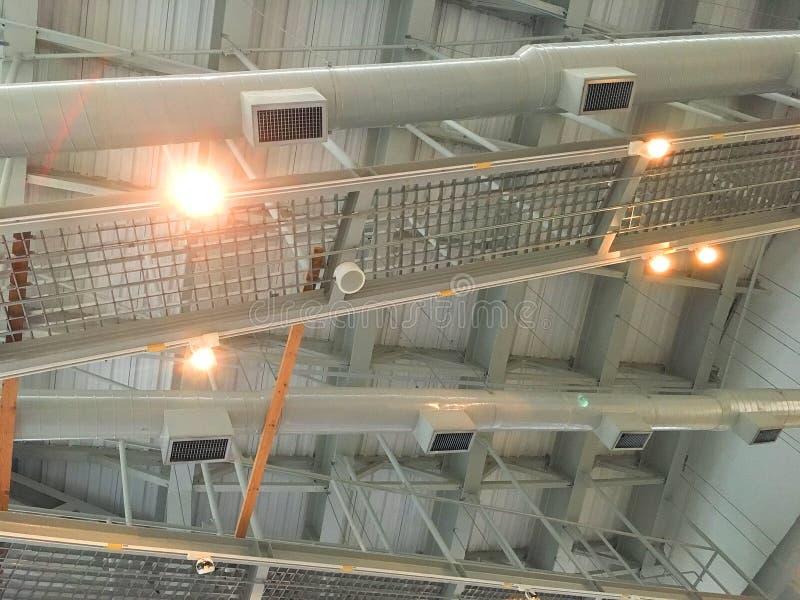 Hauptluftabluftsystem Lüftungsanlage Das Konzept der industriellen Ausrüstung stockfotografie