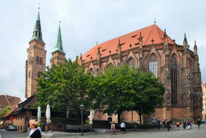 Hauptmarkt, la place centrale de Nuremberg, Bavière, Allemagne image stock