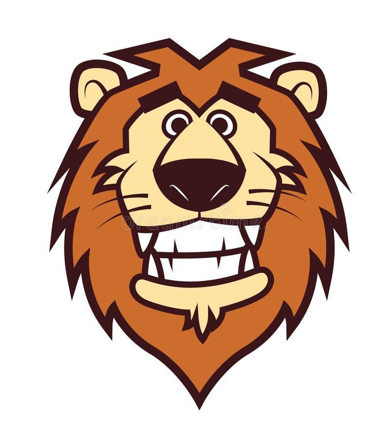 Hauptmaskottchen des netten Löwes für Sport oder Zoo-/Tierklinikmaskottchen vektor abbildung