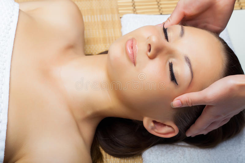 Hauptmassage stockfoto