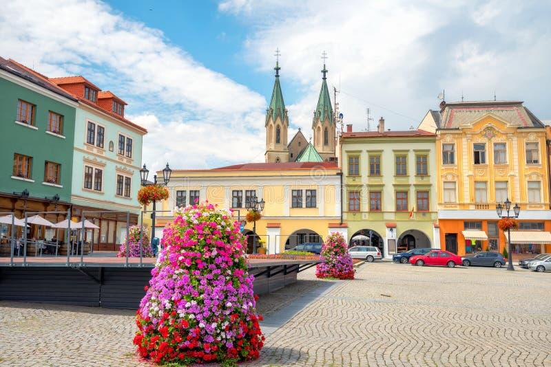 Hauptplatz der Stadt Kromeriz in Mähren Tschechische Republik lizenzfreies stockbild