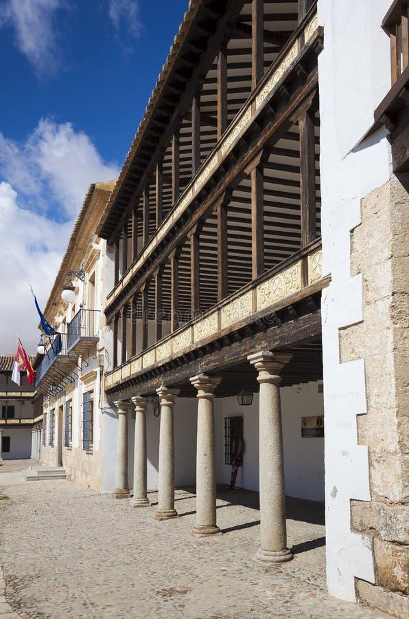 Hauptplatz des 17. Jahrhunderts in Tembleque stockfotos