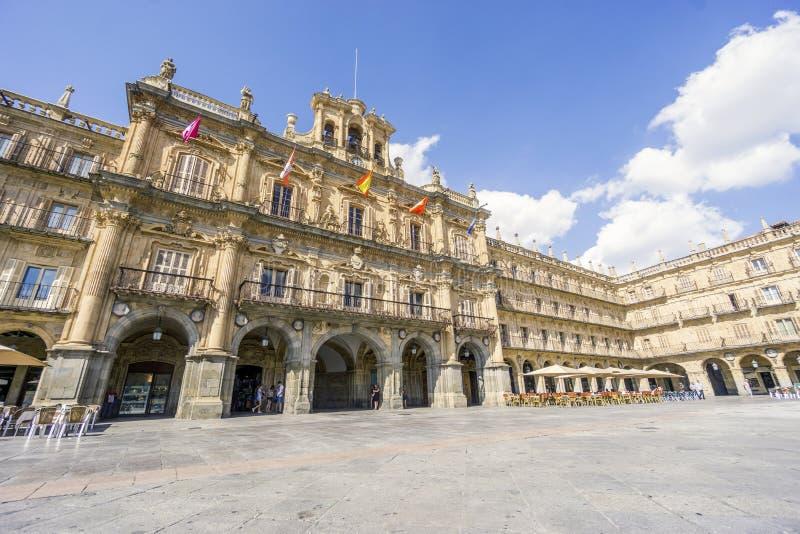 Hauptplatz rief iPlaza Bürgermeister in Salamanca, Leon, Spanien an stockfotos