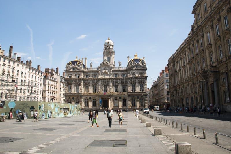 Hauptplatz von Lyon, Frankreich lizenzfreies stockfoto