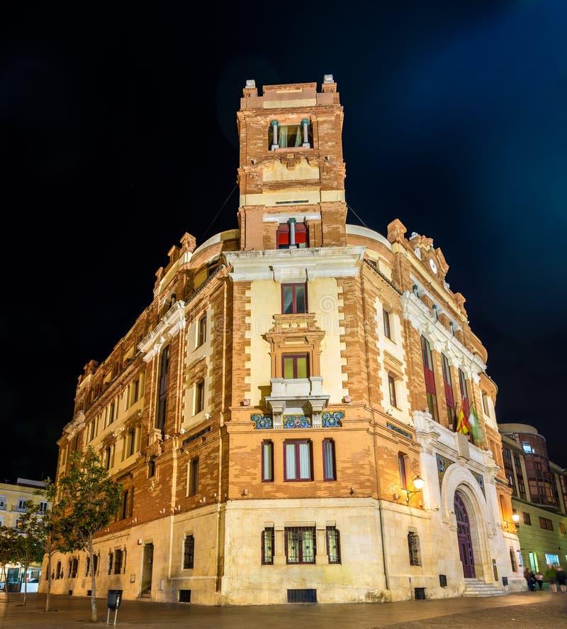 Hauptpost in Cadiz - Spanien stockbild