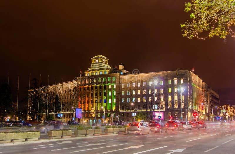 Hauptpost von Serbien stockbild
