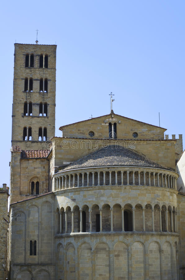 Hauptquadrat von Arezzo lizenzfreie stockfotos