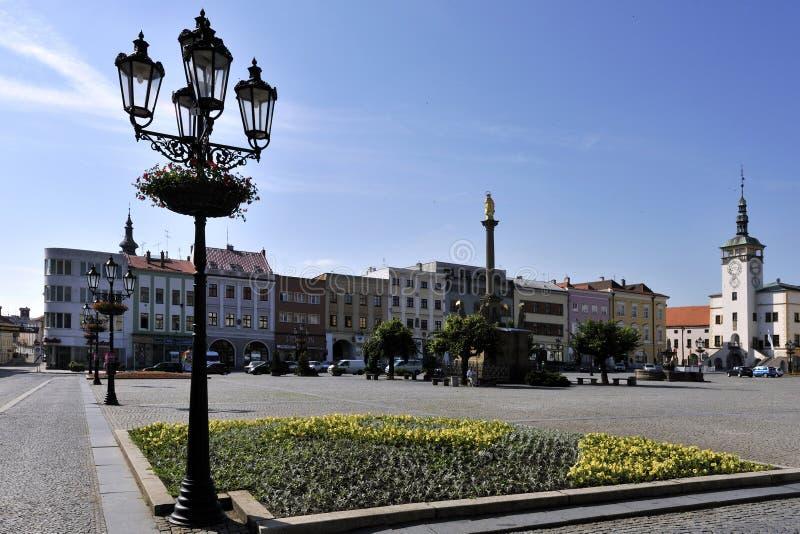 Hauptquadrat von Kromeriz stockbild