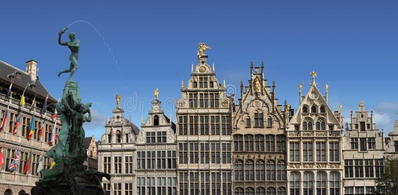 HauptRathausplatz von Antwerpen, Belgien. lizenzfreie stockfotografie