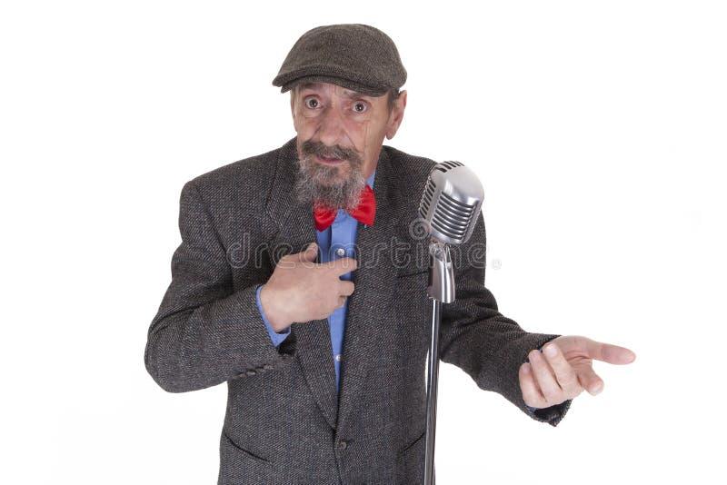 Hauptrechner mit Mikrofon lizenzfreie stockfotos