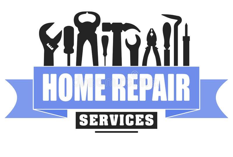 Hauptreparaturservice-Vektordesign für Ihr Logo oder Emblem mit stock abbildung