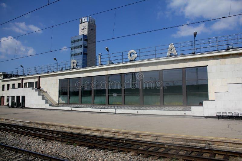 Hauptsächlichbahnhof in Riga, Lettland lizenzfreie stockbilder