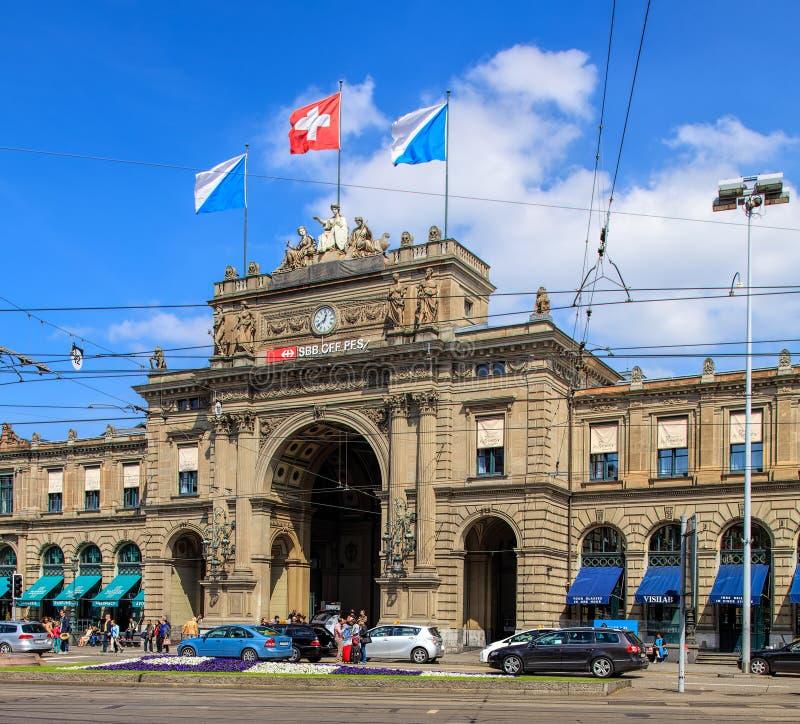 Hauptsächlichbahnhof Zürichs lizenzfreies stockbild