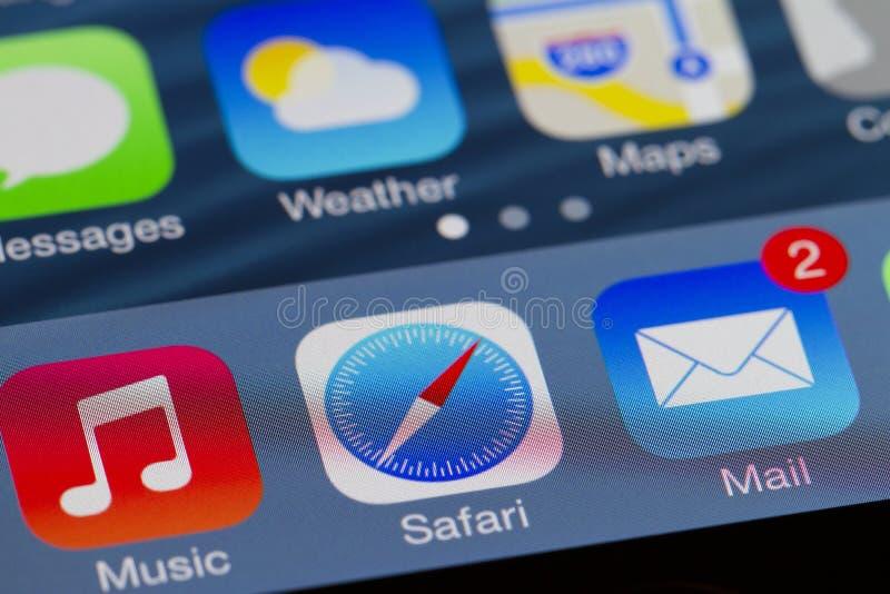 Hauptschirm Iphone Redaktionelles Foto