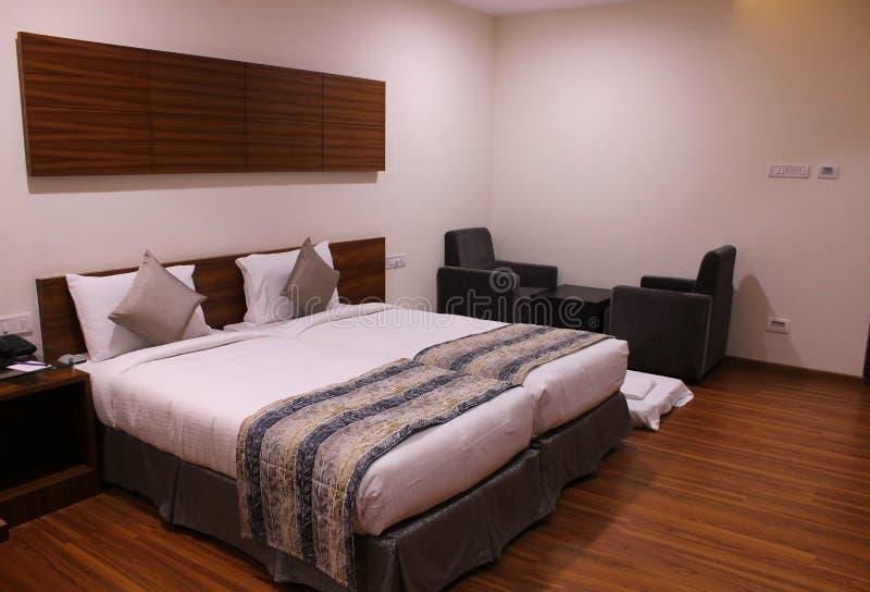 Hauptschlafzimmer im Erholungsort stockbild