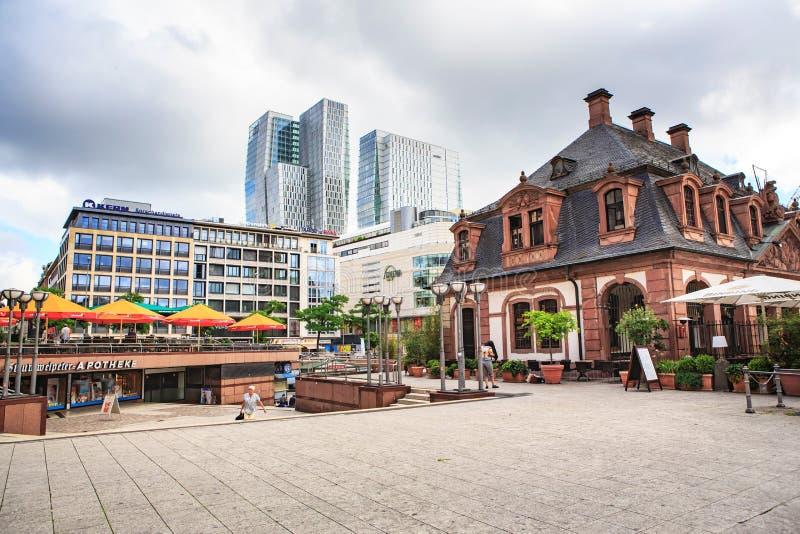 Hauptschutz Plaza von Frankfurt stockfoto