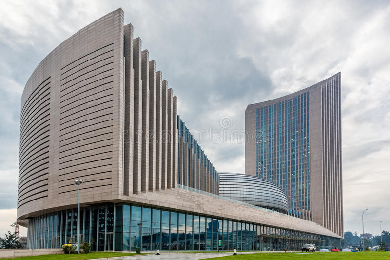 Hauptsitze der Afrikanischen Union stockbilder