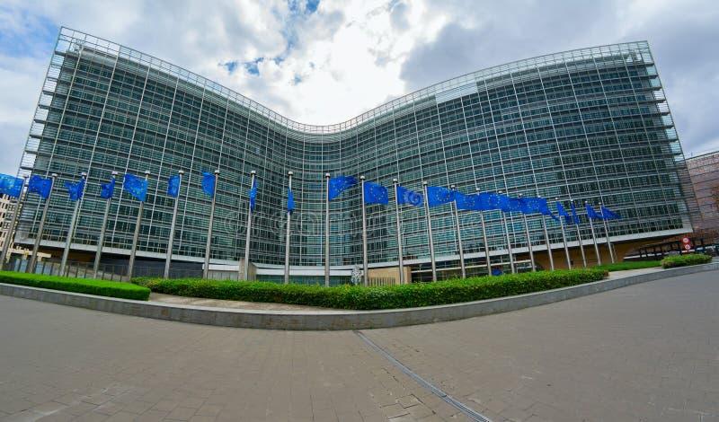 Hauptsitze der Europäischen Kommission stockbilder