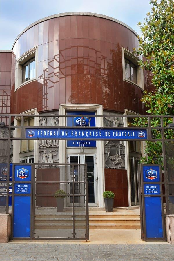 Hauptsitze der französischen Fußballvereinigung FFF, Paris lizenzfreies stockbild
