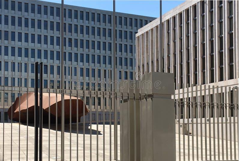 Hauptsitze des BND in Berlin - Deutschland lizenzfreie stockbilder