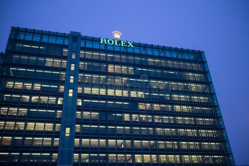 Hauptsitze Rolexs SA in Genf stockbilder