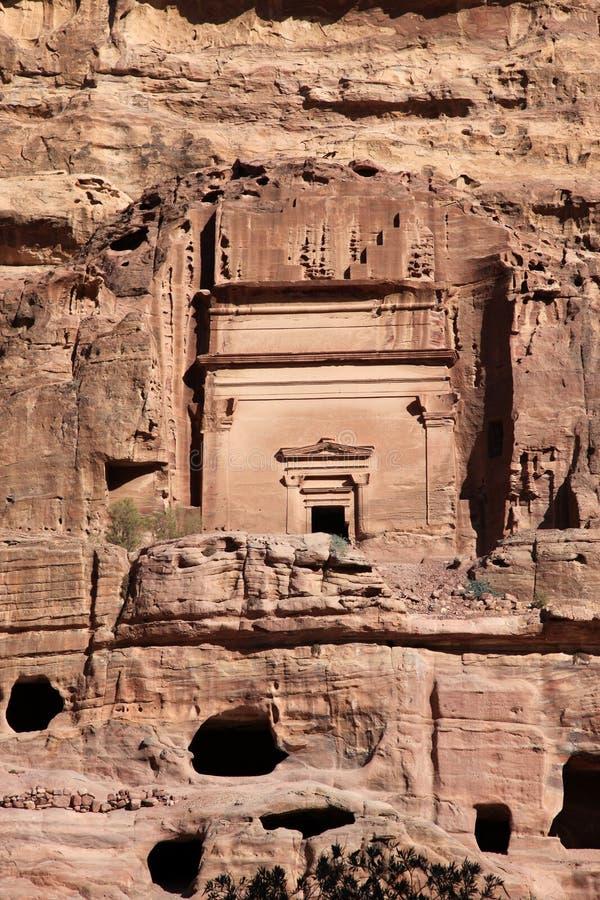 Hauptstadt Petra Nabataeanss (Al Khazneh), Jordanien stockbild