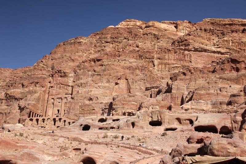 Hauptstadt Petra Nabataeanss (Al Khazneh), Jordanien lizenzfreie stockfotografie