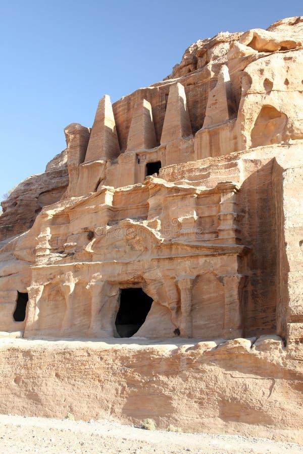 Hauptstadt Petra Nabataeanss (Al Khazneh), Jordanien lizenzfreies stockfoto