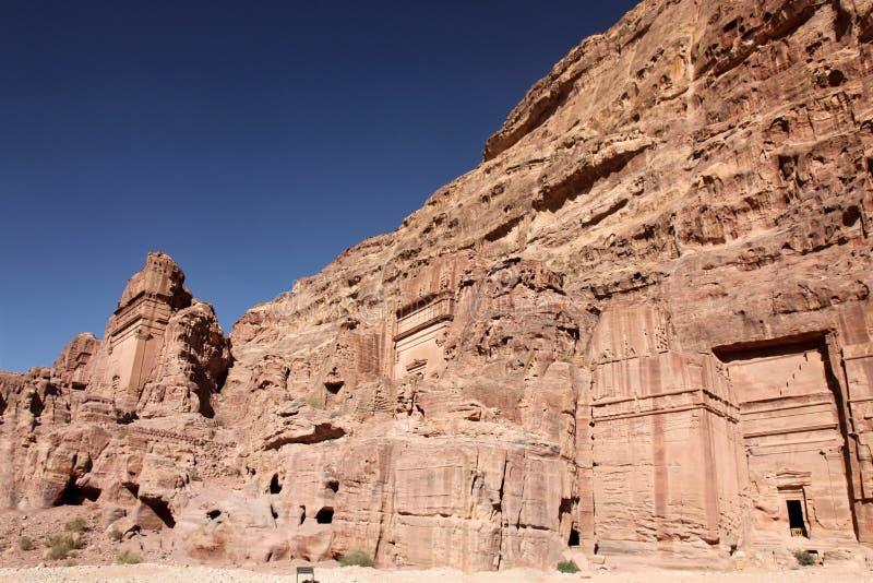 Hauptstadt Petra Nabataeanss (Al Khazneh), Jordanien lizenzfreie stockfotos