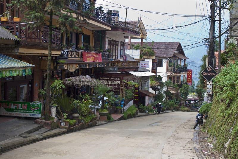 Hauptstraße in der Stadtmitte stockfoto