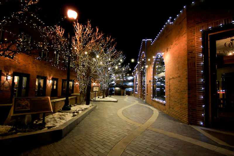 Hauptstraße Park City, Utah stockfotografie