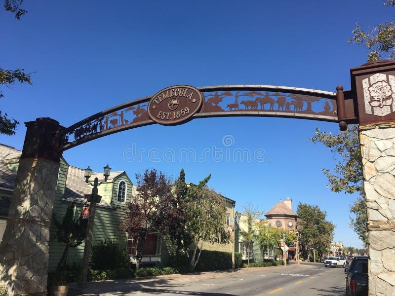 Hauptstraße Temecula Kalifornien lizenzfreie stockfotografie