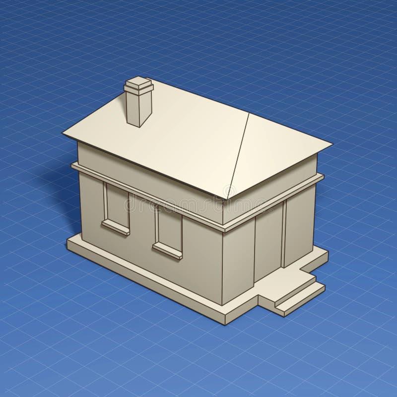 Hauptsymbol Mit Planzeichnung Stock Abbildung - Illustration von ...
