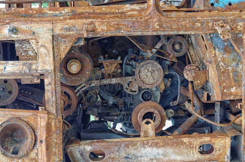 Hauptteil der rostigen Maschine stockfoto