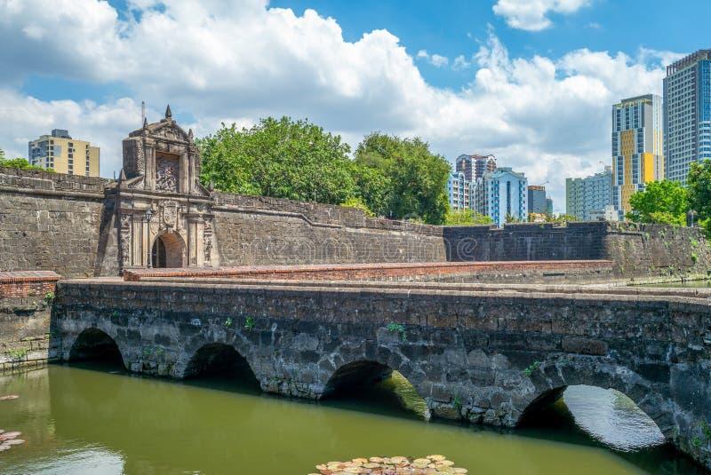 Haupttor des Forts Santiago in Manila, Philippinen stockfoto