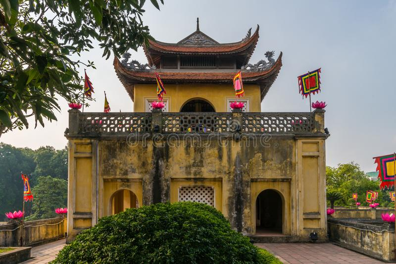 Haupttor langer Zitadelle Thang lizenzfreie stockbilder