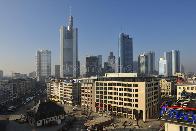 hauptwache frankfurt стоковые изображения