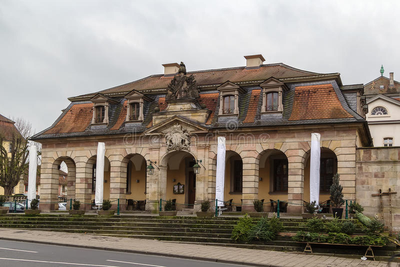 Hauptwache, Fulda, Germany. The former guard-house (Hauptwache) is baroque building in central point of Fulda, Germany royalty free stock photography